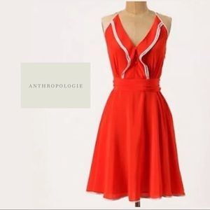 Anthropologie Girls of Savory Gull Wing Dress